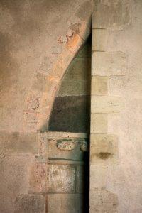 Stonework inside Pembridge church