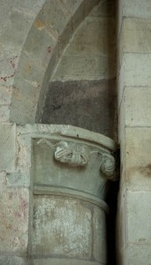 Norman Capital in church