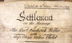 Eliza Helen Child - Marriage Settlement
